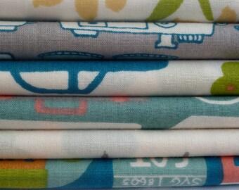 Birch Organic Fabrics Next Stop Collection Six Piece fat Quarter Yard Bundle