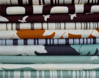 Birch Organic Fabrics Camp Modern Collection, One 9 Piece Half Yard Bundle