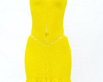 Mellow-Yellow Crochet Dress