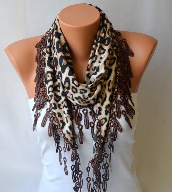 leopard scarf cotton jersey leaopard scarf winter scarf