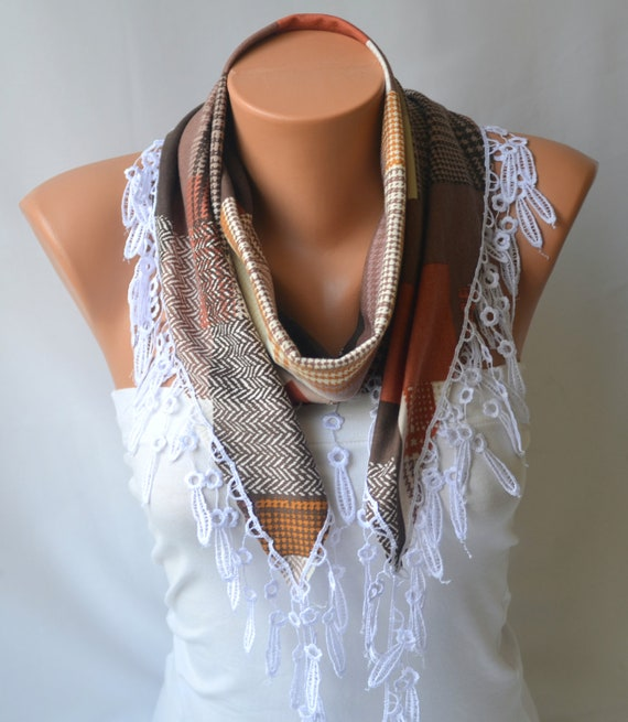 cotton scarf cotton jersey multicolor scarf winter by bstyle
