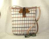 Handbag Purse. Handmade shoulder handbag. For Fall and Winter.