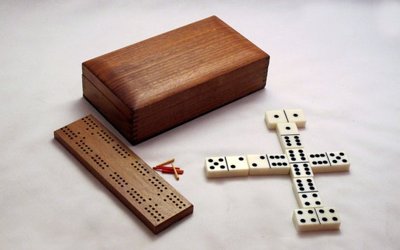 Domino Crib set / Dominoes / Cribbage board / travel games