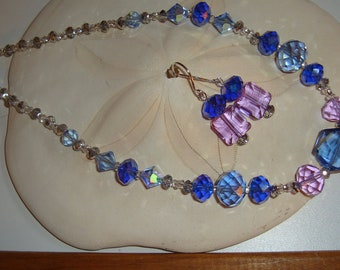 Color-Change Twilight Necklace and Earring Set (NES34)