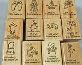 "Stampin Up Stamp Set - Rubber Stamps - ""A Little Love""  2004, Retired, NEVER USED except one  - Scrapbooking, Cardmaking"