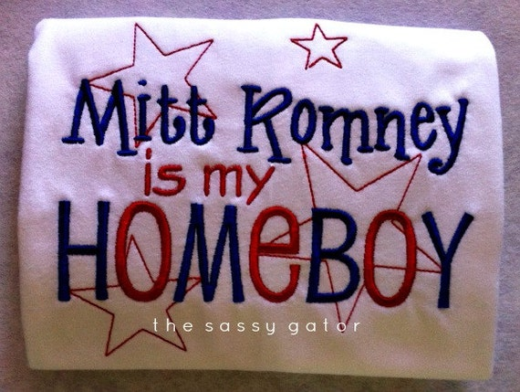 Mitt Romney Republican Embroidered T-Shirt