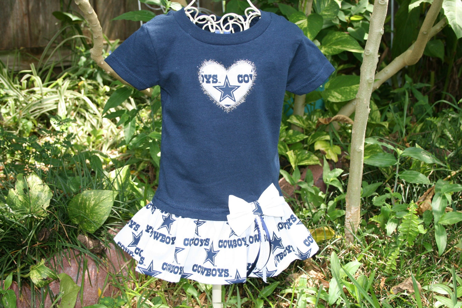 12 Month Dallas COWBOYS Tshirt Dress Play clothes Infant