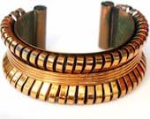 Renoir Style Copper Bracelet Modernist Industrial 1970s Jewelry   Cuff Bracelet