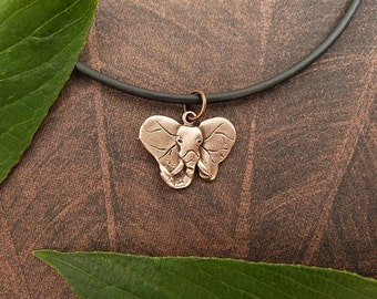 Bronze Elephant Necklace