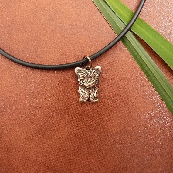 Bronze yorkie puppy necklace like this item aloadofball Choice Image