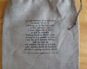 Linen RAG BAG for storing...