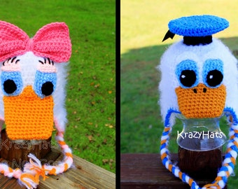 Crochet Duck hat.Made to order.Made to order.Size 3 month old -12y.old