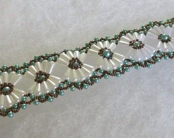Beautiful and elegant beaded bracelet