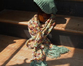 Ocean colors squiggly scarf