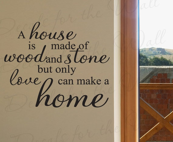 A house made wood and stone love makes home inspirational for What makes a mansion