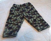Baby crochet camouflage pants  with elasticated waist camo hunting clothes