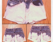 Girls High Waisted Bleached Shorts Size xxs / 12 SLIM