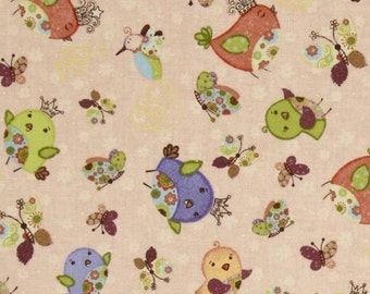 Night Night Birds - Fabric By The Yard
