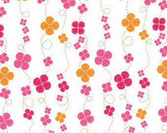 Lush Twirling Blossoms - Fabric By The Yard  - H