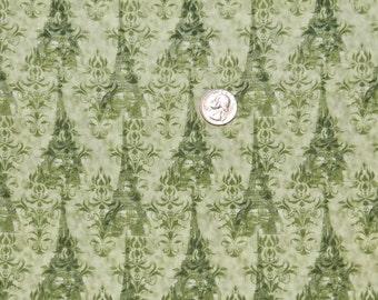 Sage Eiffel Tower - Fabric By The Yard - H