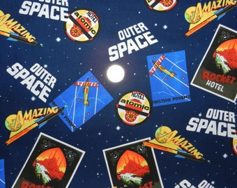 Outer Space Movie Posters - Fabric By The Yard