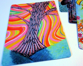 "Art Magnet Psychedelic Tree 3.5"" x 5"""