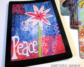 "Art Magnet Patriotic Peace 3.5"" x 5"""