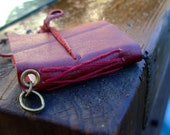 Mini Leather Bound Book Charm, for Necklace