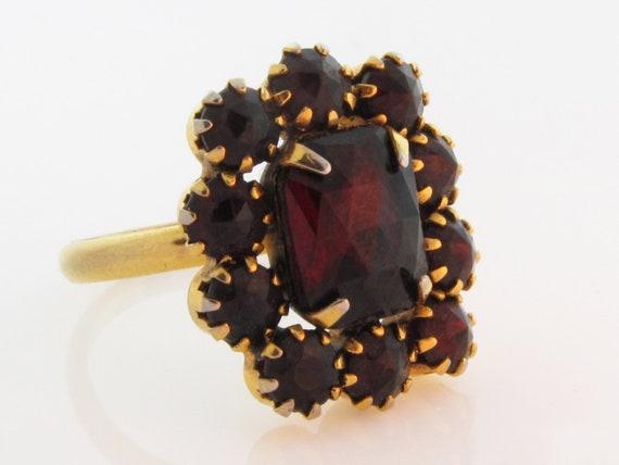 Bohemian Garnet Cocktail Ring