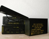 Vintage Metal Army Storage Bin