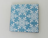 Winter Coasters - Snowflake coasters with shimmer