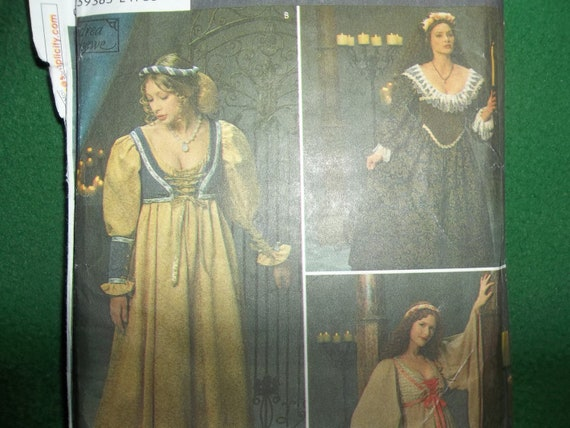 Simplicity costumes 1692 for reaissance maid, medieval wench perfect for SCA