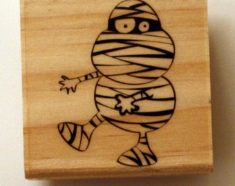 Halloween Mummy Costume Rubber Stamp