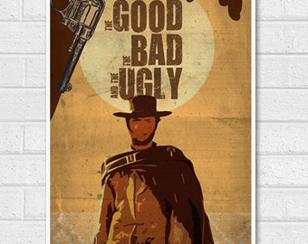 The Good, the Bad and the Ugly Movie Poster Print