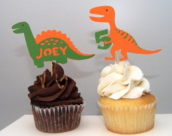 Dinosaur Cupcake Toppers (12)