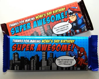 Superhero Candy Bar Wrappers • PRINTED