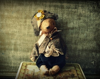 PDF E-PATTERN for 9 inch Artist Mohair Handmade  Napoleon Teddy Bear plus the clothes pattern by Sasha Pokrass