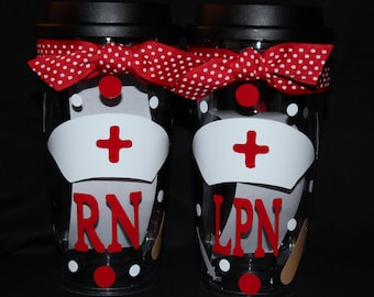 16oz Personalized  NURSE Acrylic Tumbler/Coffee Cup