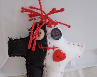 Made to order Harlequin Voodoo Doll small