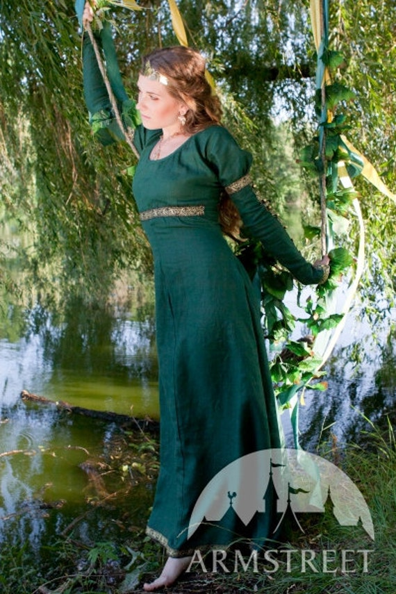 """DISCOUNTED PRICE! Medieval Dress Tunic """"Forest Princess"""""""