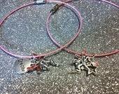SALE Pink Wire Faerie Bangle / Bracelet