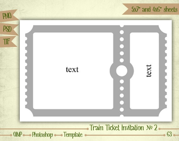 train ticket invitation template free