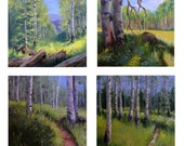 Set of 4 giclee aspen fine art prints