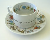 Fortune Telling  Tea Cup &  Saucer