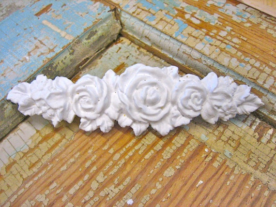 shabby chic rose vine applique. Black Bedroom Furniture Sets. Home Design Ideas
