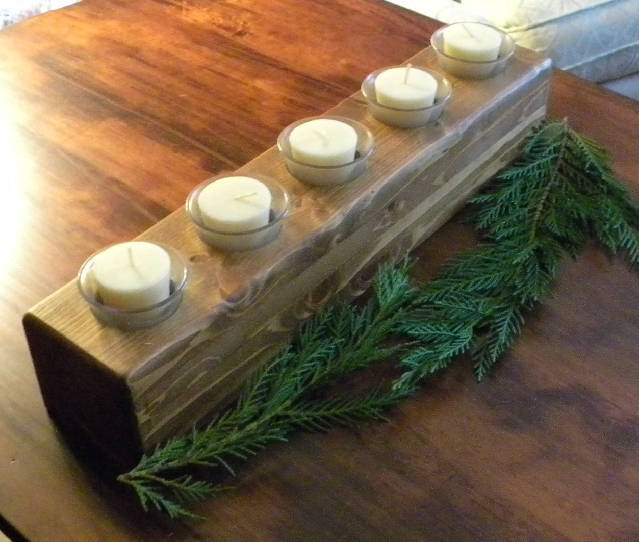 Mantle or table candle centerpiece
