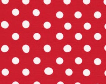 Red Large Polka Dots from Color Basics by Lecien
