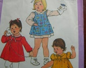Simplicity Number 8691, two sizes--1/2 and 1 toddler, dress and pinafore, 1978