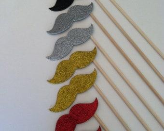 SPARKLE STACHE sticks (set of 8 sparkle stache sticks)