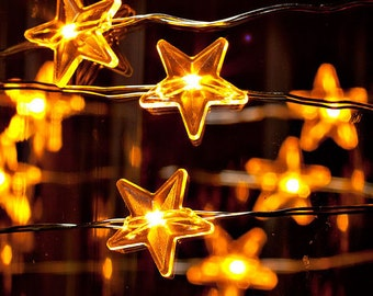 Twinkle Twinkle Little Star Warm White LED Battery operated string lights/ Perfect for Weddings